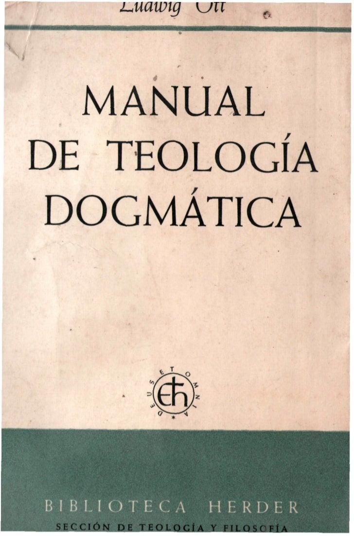 MANUAL DE TEOLOGÍA DOGMÁTICA- LUDWIG OTT