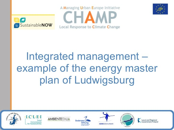 Integrated management – example of the energy master plan of Ludwigsburg