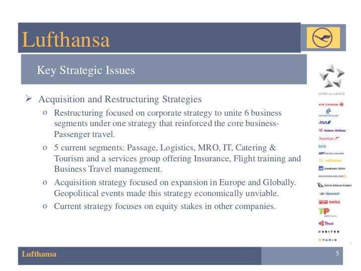 M&a Case Lufthansa and Austrian Airlines