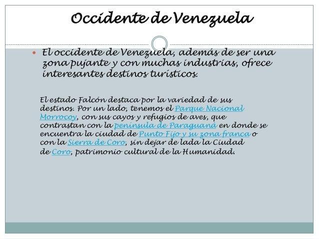 Lugares turisticos de venezuela(occidente de venezuela)