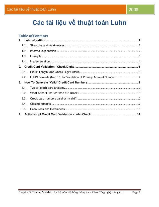 Các tài liệu về thuật toán Luhn                                                                                           ...