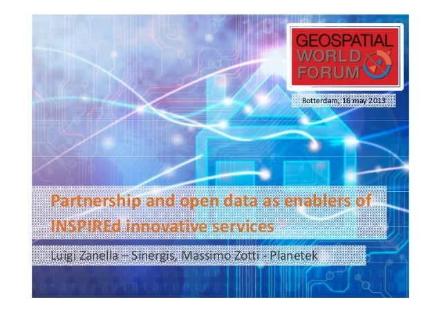 Partnership and open data as enablers of INSPIREd innovative services