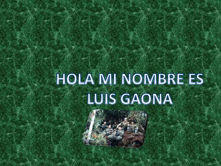 HOLA MI NOMBRE ES LUIS GAONA<br />