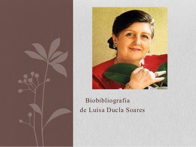 Biobibliografiade Luísa Ducla Soares
