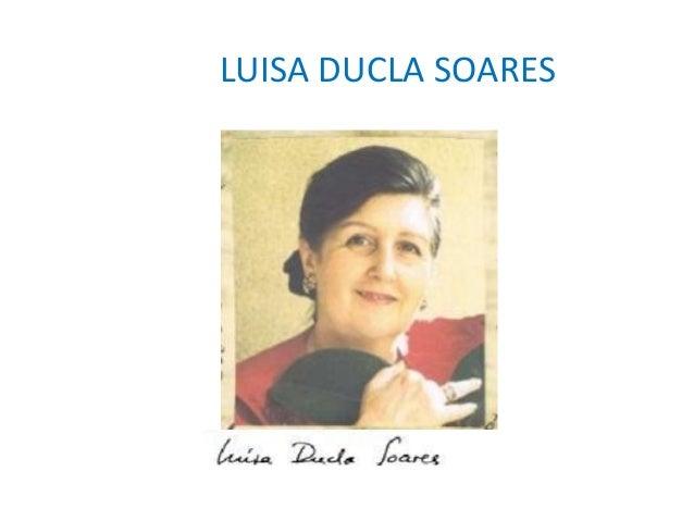 LUISA DUCLA SOARES