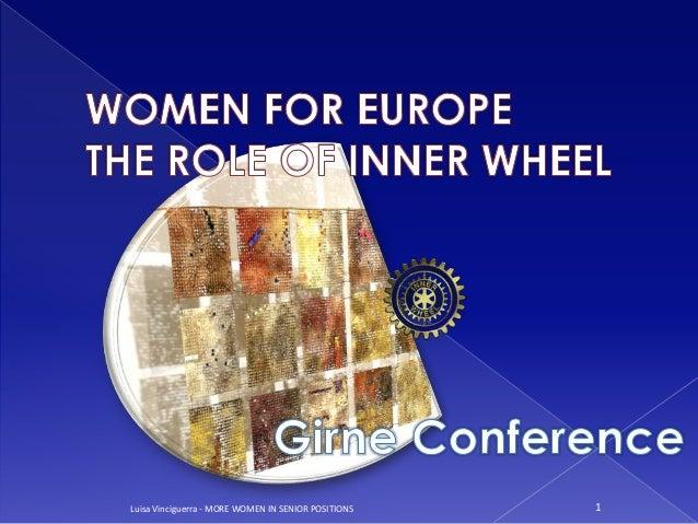 Luisa  Vinciguerra, Women For Europe, Girne 2011