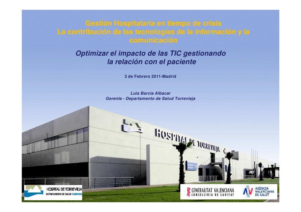 Luis Barcia. Gestión hospitalaria en tiempos de crisis