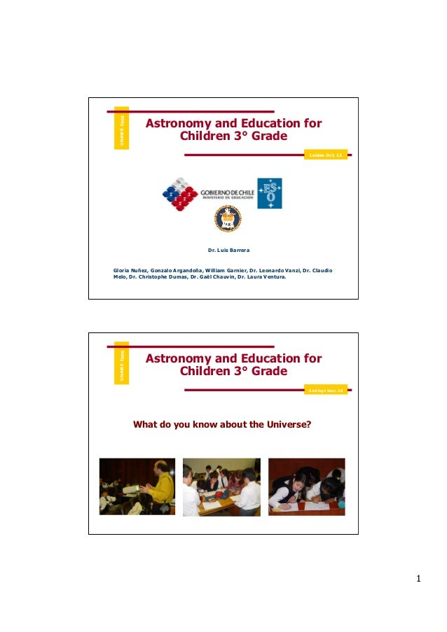 Astronomy and Education for Children 3i Grade