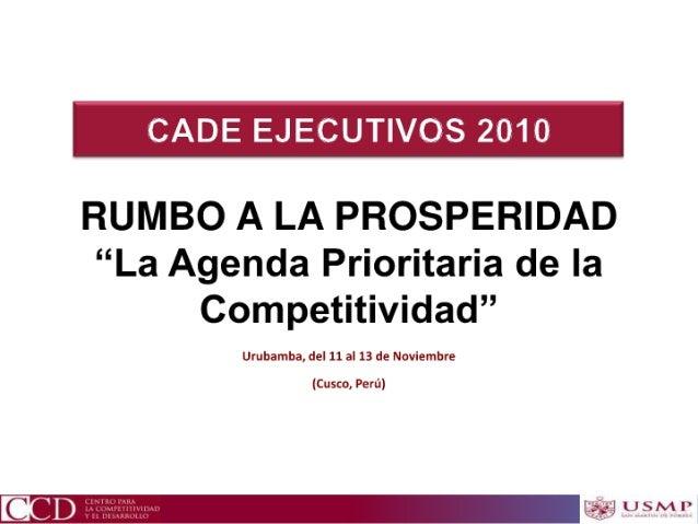 Luis carranza - La Agenda de la Competitividad