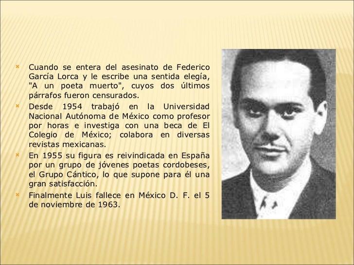 Luis Cernuda a un poeta muerto