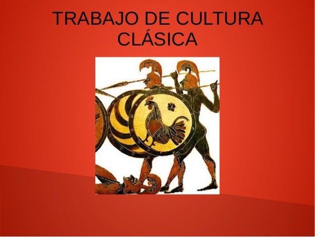 TRABAJO DE CULTURA CLÁSICA