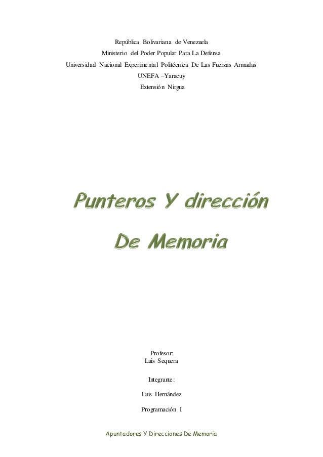 República Bolivariana de Venezuela Ministerio del Poder Popular Para La Defensa Universidad Nacional Experimental Politécn...