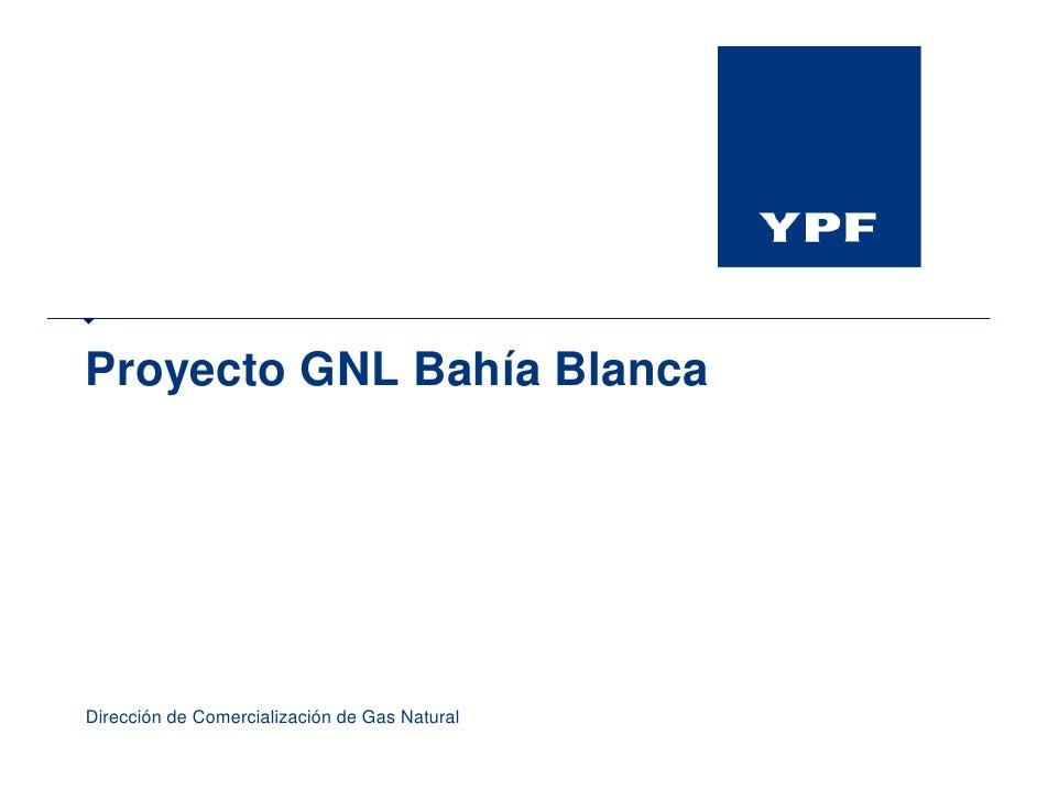 Proyecto GNL Bahía Blanca     Dirección de Comercialización de Gas Natural