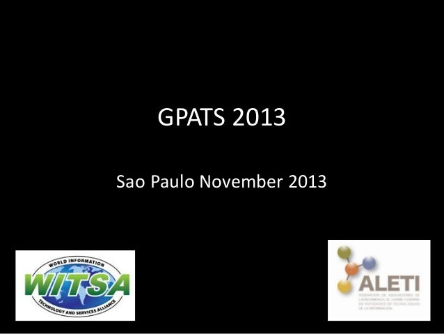 GPATS 2013 Sao Paulo November 2013