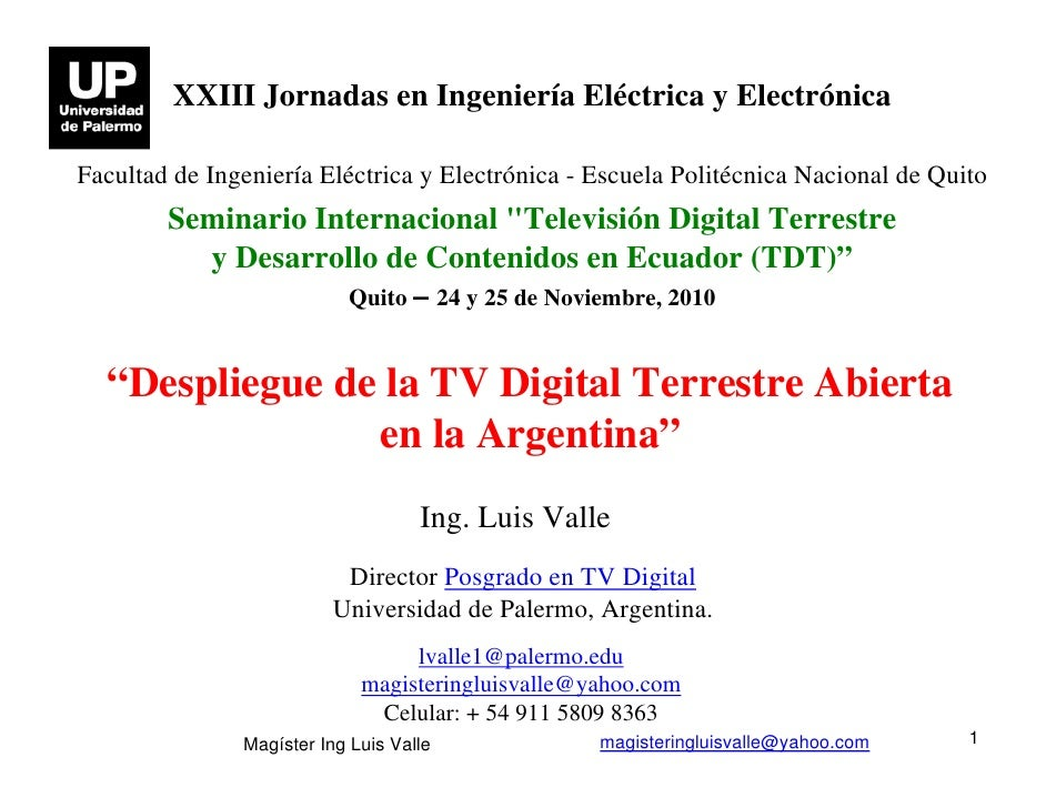 Despliegue de la TV Digital Terrestre Abierta en la Argentina