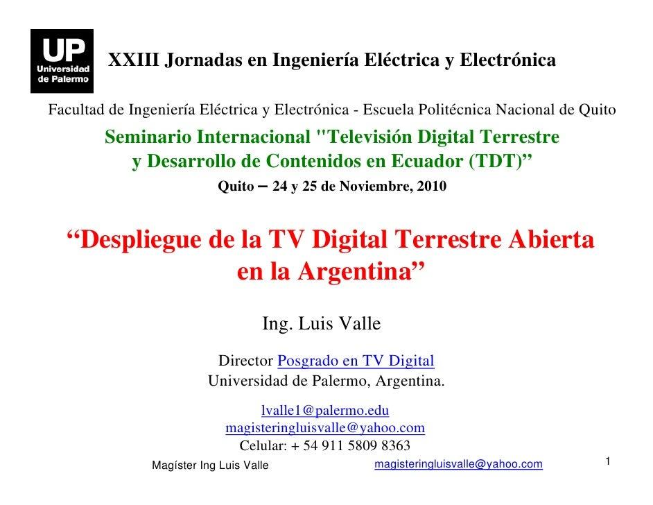 Despliegue de la TV Digital Terrestre Abierta en la Argentina