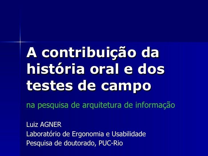 Palestra - Arquitetura de Informação e Usabilidade