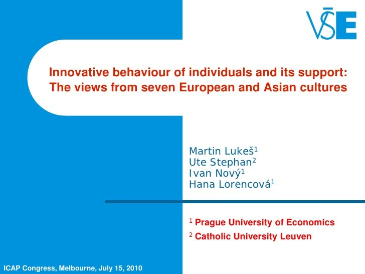 Innovative behaviour of individuals and its support:            The views from seven European and Asian cultures          ...