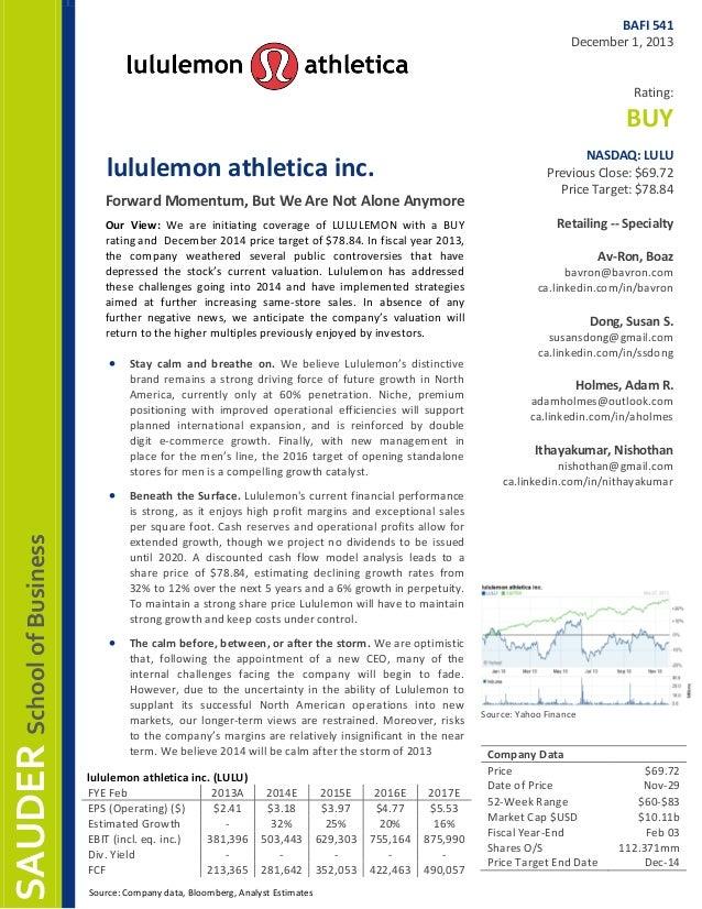 LULU - Group Analyst Report