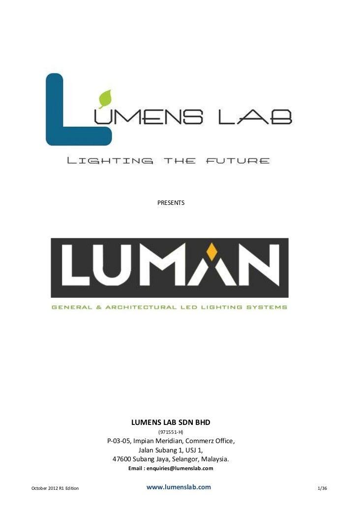 Luman Catalogue 2012