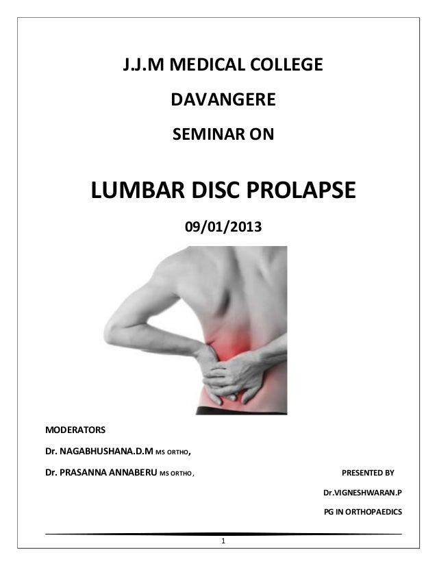 Lumbar disc prolapse
