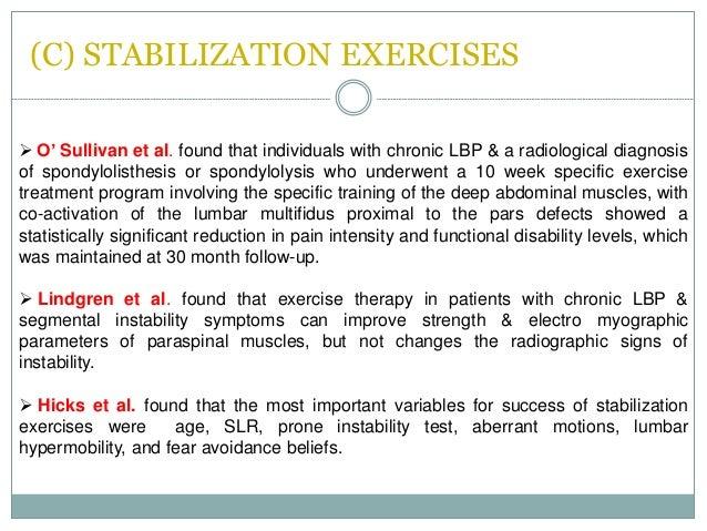Spondylolithesis exercises