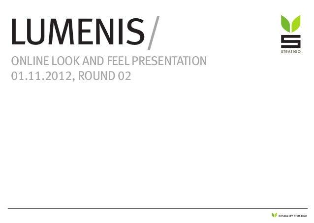 DESIGN BY STRATIGO Lumenis/ Online Look and feel presentation 01.11.2012, round 02