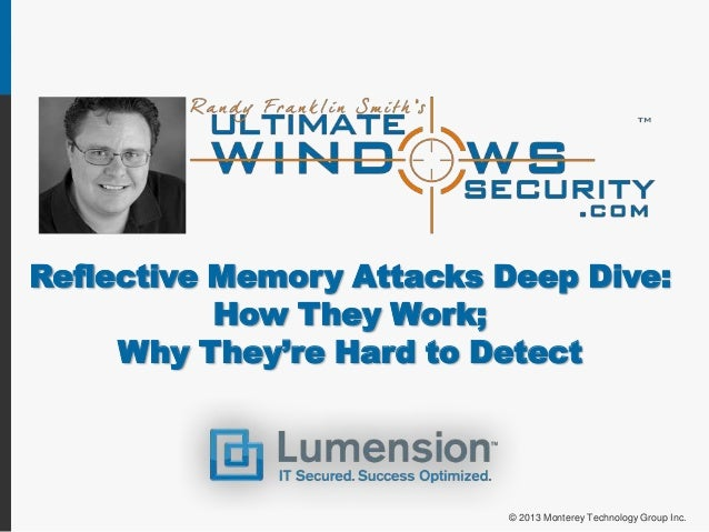 Reflective Memory Attacks Deep Dive:How They Work;Why They're Hard to Detect© 2013 Monterey Technology Group Inc.