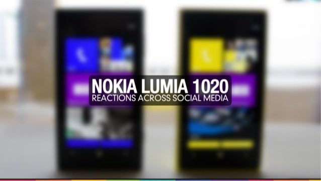 Nokia Lumia 1020 Analysis description. This report is based on the data from the Internet monitoring and includes 14711 me...