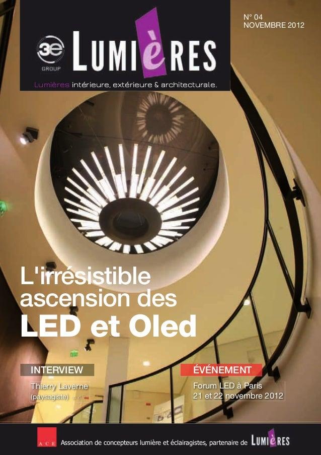 Association de concepteurs lumière et éclairagistes, partenaire de L'irrésistible ascension des LED et Oled Lumières intér...