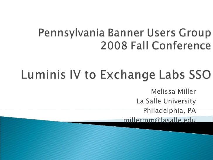 Luminis Iv To Exchange Labs