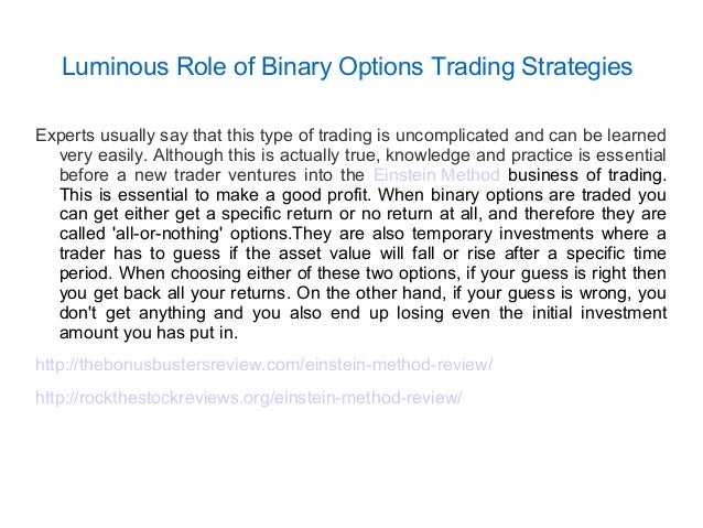 Binary options trading strategies pdf