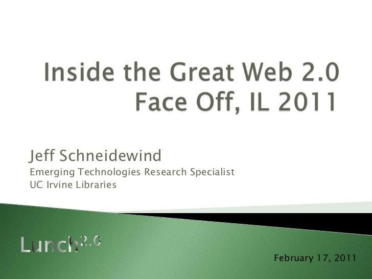 Jeff SchneidewindEmerging Technologies Research SpecialistUC Irvine Libraries                                            F...