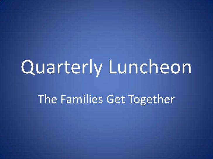 Luncheon