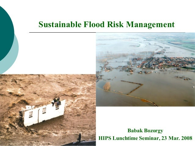 Sustainable Flood Risk Management Babak Bozorgy HIPS Lunchtime Seminar, 23 Mar. 2008