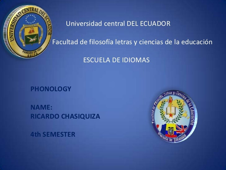 Introduction of Phonology  by Ricardo Chasiquiza