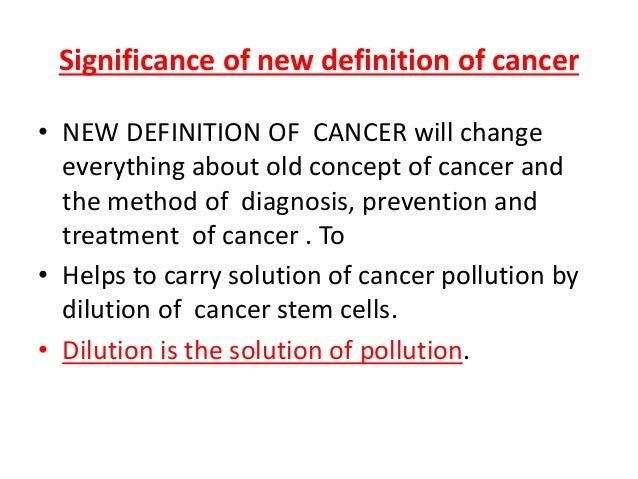 concept of cancer stem cells The concept of a cancer stem cell is very appealing it is a cell that can regrow the  tumor and hence is the cell that must be killed if the tumor is.