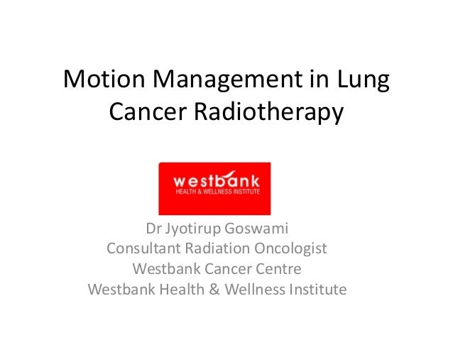 Motion Management in Lung Cancer Radiotherapy