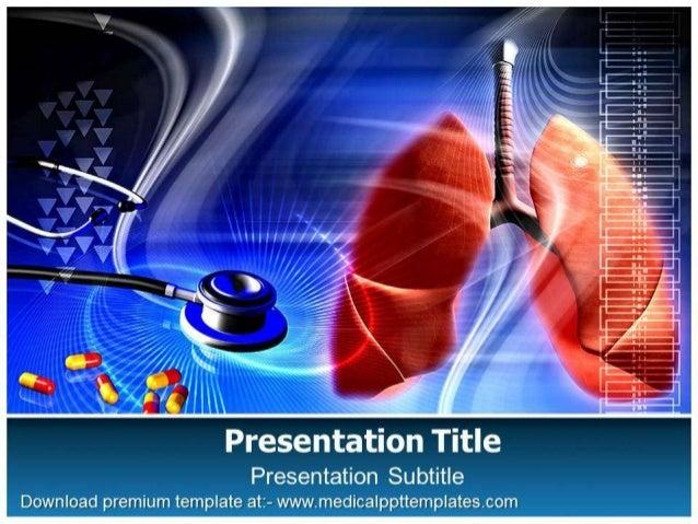 Lungs power point template   medicalppttemplates.com