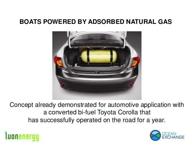 Adsorbed Natural Gas for Boats