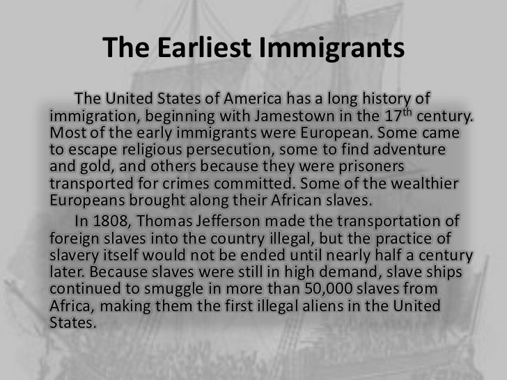 an introduction to the immigration to the united states Introduction the immigration act of 1924 limited the number of immigrants allowed entry into the united states through a national immigration to the united.