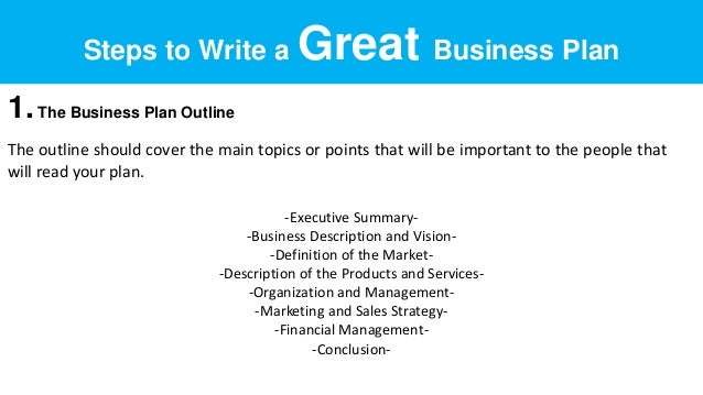 Topics for business plan