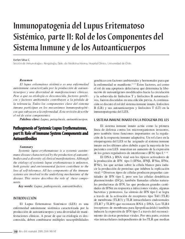 Inmunopatogenia del Lupus Eritematoso Sistémico, parte II: Rol de los Componentes del Sistema Inmune y de los Autoanticuer...