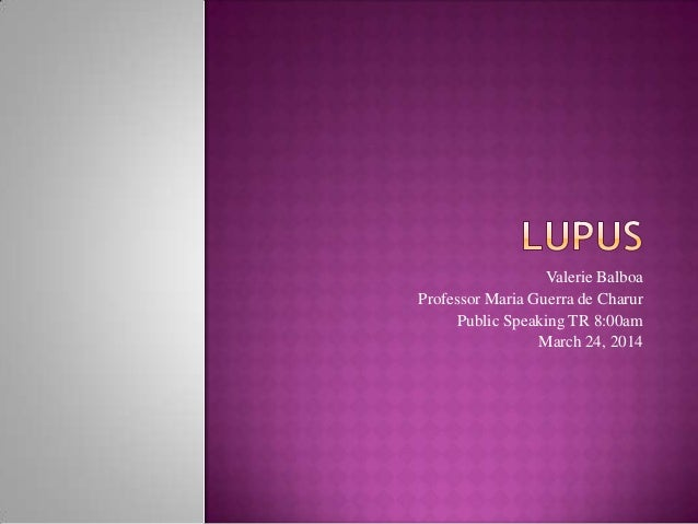 lupus speech