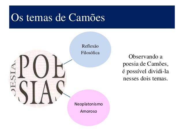 Luis de Camoes temas