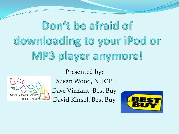 Download eAudiobooks to Your MP3 Player