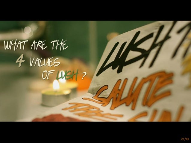 lush marketing mix This case is about the innovative marketing strategies and product development approach adopted by lush fresh handmade cosmetics (lush), a uk-based producer and marketer of ethical beauty products.