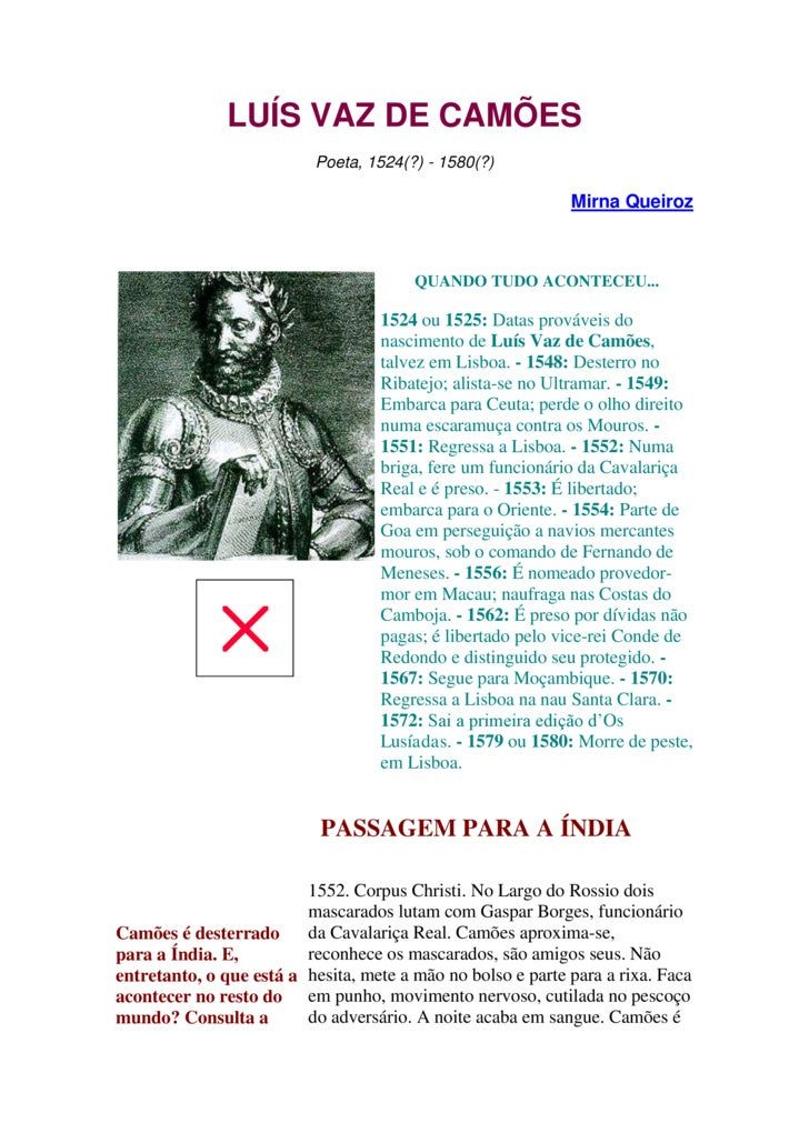 Luis de Camoes natercia