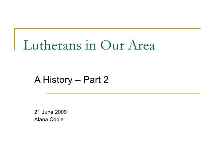 Lutherans in NJ/NY/PA - Part2