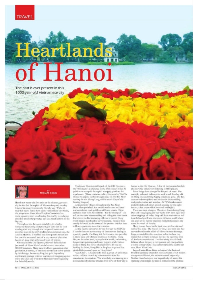 Indian link australian magazine - heartlands of hanoi indian link january 2011